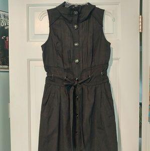 Corset back button up unique dress w/ pockets